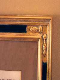 Close up: one of our hand-carved corners