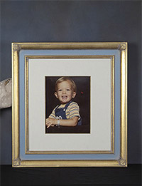 A hand-carved frame for a very special portrait