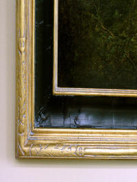 Close up of a frame corner
