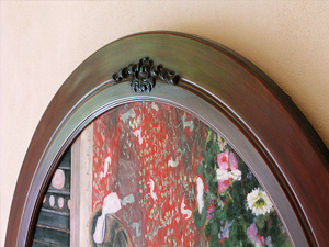 Hand-Carved, Five Foot Wide Circular Frame